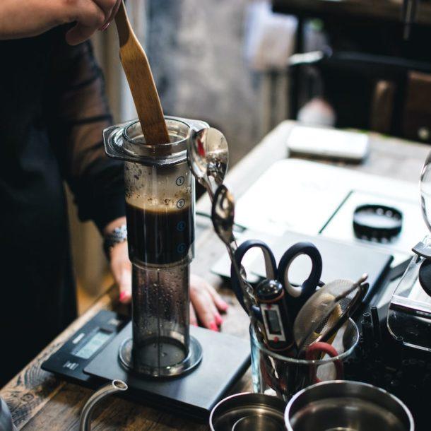 Brewing Coffee in Aeropress